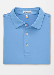 Peter Millar Solid Stretch Jersey Polo - Iberian Blue