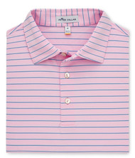 Peter Millar Halifax Stripe Stretch Jersey Polo - Palmer Pink/Iberian Blue