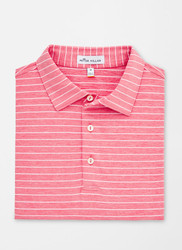 Peter Millar Halifax Stripe Stretch Jersey Polo - Lanai/White