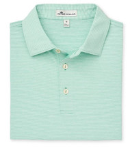 Peter Millar Jubilee Stripe Stretch Jersey Polo - Meadow/White