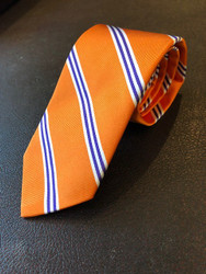 R Hanauer Orange & Purple Powell Stripe Necktie - F4352