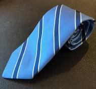 R Hanauer Blue Hawkins Stripe Necktie - F4391