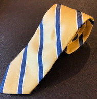 R Hanauer Yellow Hawkins Stripe Necktie - F4392