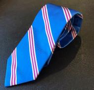 R Hanauer Blue & Pink Powell Stripe Necktie - F4350
