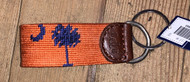 Smathers and Branson Key Fob - Palmetto - Orange/Purple