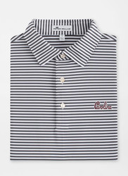Peter Millar South Carolina Script Competition Stripe Performance Polo - Iron
