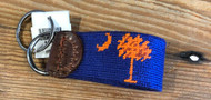 Smathers and Branson Key Fob - Palmetto - Purple/Orange