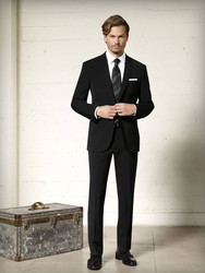Maxdavoli by MaxMan Black Solid Suit