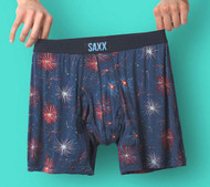 Saxx Ultra Boxer Brief - Navy Fireworks