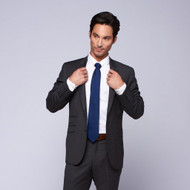 Privé by MaxMan Charcoal Solid Suit