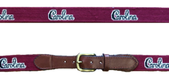"Smathers and Branson USC ""Carolina Script"" Needlepoint Belt - Garnet"