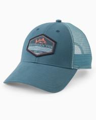 Southern Tide Pop Rising Trucker Hat - Stellar Blue