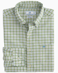 Southern Tide Classic Fit Plaid Oxford Sport Shirt - Paradise Green
