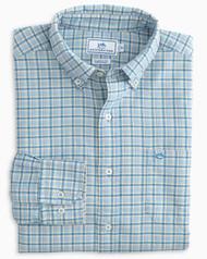 Southern Tide Classic Fit Plaid Oxford Sport Shirt - Sistine Blue