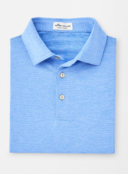 Peter Millar Halford Stripe Performance Polo - Liberty Blue