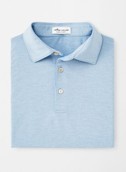 Peter Millar Jubilee Stripe Performance Polo - Cottage Blue/Gale Grey