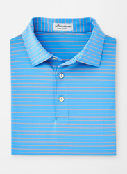 Peter Millar Crafty Stripe Stretch Jersey Polo - Liberty Blue