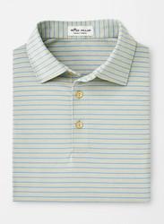 Peter Millar Crafty Stripe Stretch Jersey Polo - British Grey