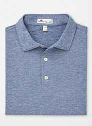 Peter Millar Solid Stretch Jersey Polo - Plaza Blue