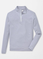 Peter Millar Perth Stripe Quarter-Zip - Gale Grey