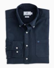Southern Tide Garment Dyed Oxford Sport Shirt - True Navy