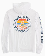 Southern Tide Golden Hour Tales Long Sleeve Hoodie Tee - Classic White