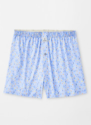 Peter Millar Stretch Jersey Cantina Printed Margarita Boxer - Cottage Blue