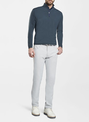 Peter Millar Perth Stretch Loop Terry Sugar Stripe Quarter-Zip - Navy