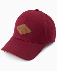 Southern Tide Locals Leather Patch Hat - Black Cherry