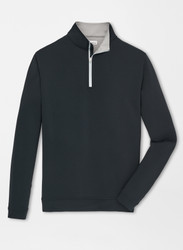 Peter Millar Perth Stretch Loop Terry Quarter-Zip - Black