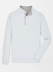 Peter Millar Perth Stretch Loop Terry Quarter-Zip - British Grey
