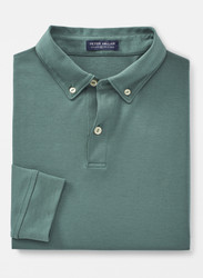 Peter Millar Crown Crafted Champ Long-Sleeve Polo- Sherwood