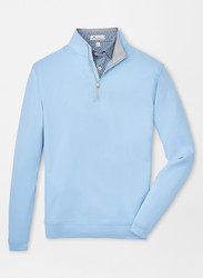 Peter Millar Perth Stretch Loop Terry Quarter-Zip - Cottage Blue