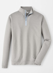 Peter Millar Perth Mélange Quarter-Zip - Gale Grey