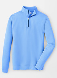 Peter Millar Perth Mélange Quarter-Zip - Liberty Blue