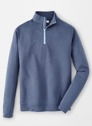 Peter Millar Perth Mélange Quarter-Zip - Navy