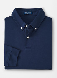 Peter Millar Crown Crafted Champ Long-Sleeve Polo- Navy