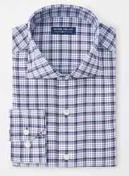 Peter Millar Crown Crafted Vaughn Plaid Performance Oxford Sport Shirt - Navy