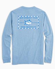 Southern Tide Long-Sleeve Heathered Skipjack T-Shirt - Ocean Channel