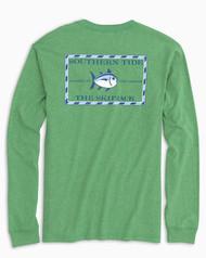 Southern Tide Long-Sleeve Heathered Skipjack T-Shirt - Surf Green