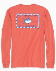 Southern Tide Long-Sleeve Heathered Skipjack T-Shirt - Terracotta