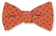 R Hanauer Orange/Purple Polka Dot Bowtie - B2383