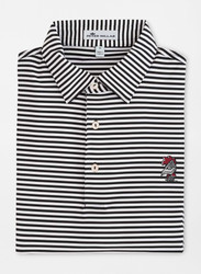 Peter Millar South Carolina Vault Logo Competition Stripe Performance Polo - Black