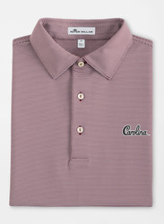 Peter Millar South Carolina Jubilee Stripe Performance Polo  - Script Logo - Maroon