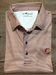 Horn Legend Herringbone Polo - Purple/Orange - Clemson C
