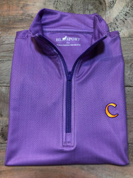 Horn Legend Pin Dot Clemson Quarter Zip Pullover Vest - Purple