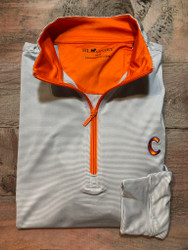 Horn Legend Stripe Clemson Quarter Zip Pullover - Gray