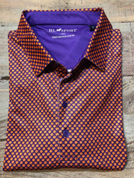 Horn Legend Clemson Paw Polo - Purple