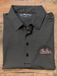 "Horn Legend University of South Carolina ""Script"" Stripe Polo - Black"