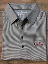 "Horn Legend University of South Carolina ""Script"" Small Stripe Polo - Charcoal"